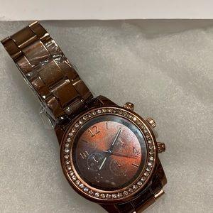 Brand New chocolate diamond watch